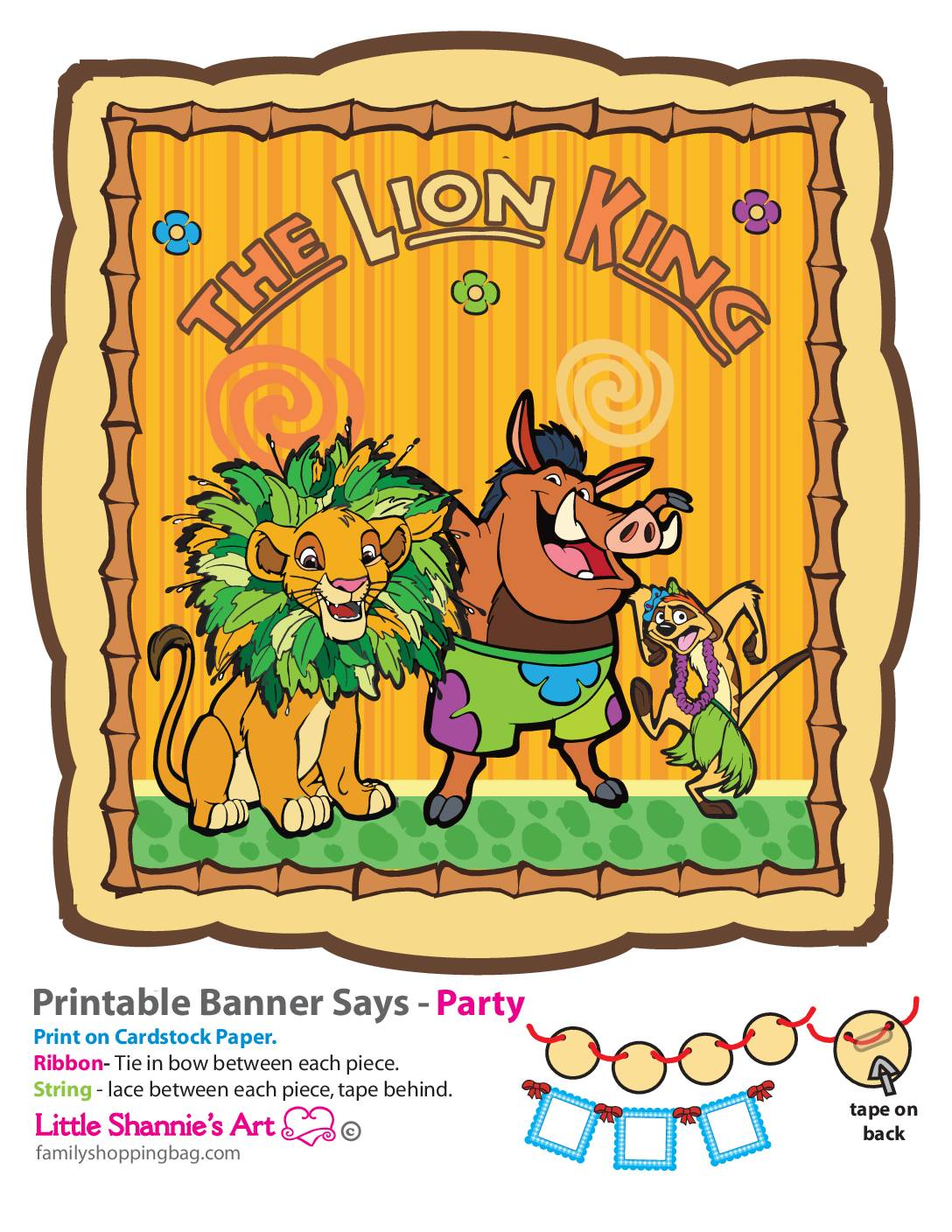1 piece Party Banner Lion King