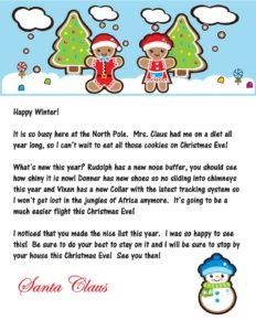 2016 Santa Letter From