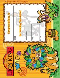 Award Lion King