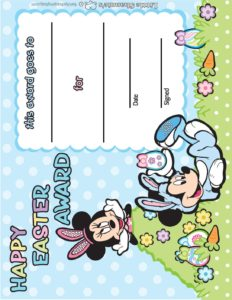 Award Mickey Mouse Easter