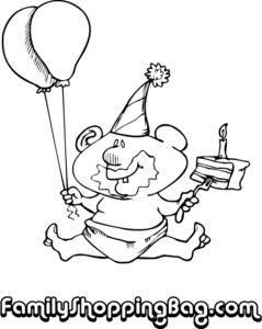 Baby Balloons & Cake