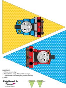 Thomas Tank Printable Party Banner