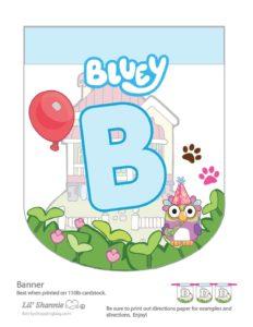 Banner B Bluey