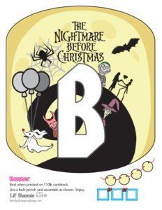 Banner B Nightmare Before Christmas