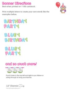 Banner Directions Bluey