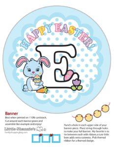 Banner E Easter