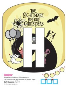Banner H Nightmare Before Christmas