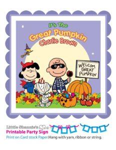 Banner Left Peanuts Halloween
