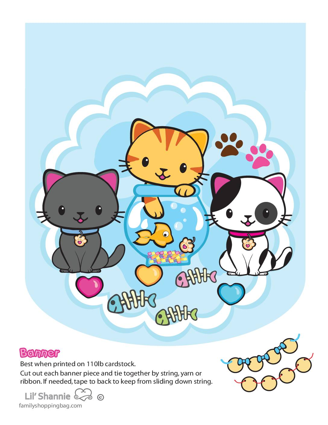 Banner Left Valentine Pups and Kittens