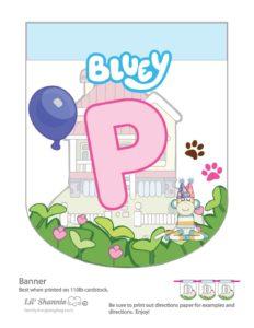 Banner P Bluey