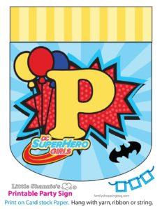 Banner P DC Super Hero Girls