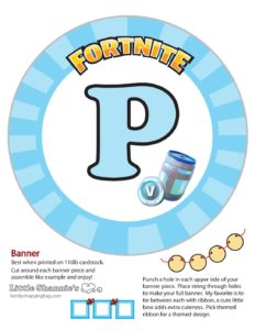 Banner P Fortnite