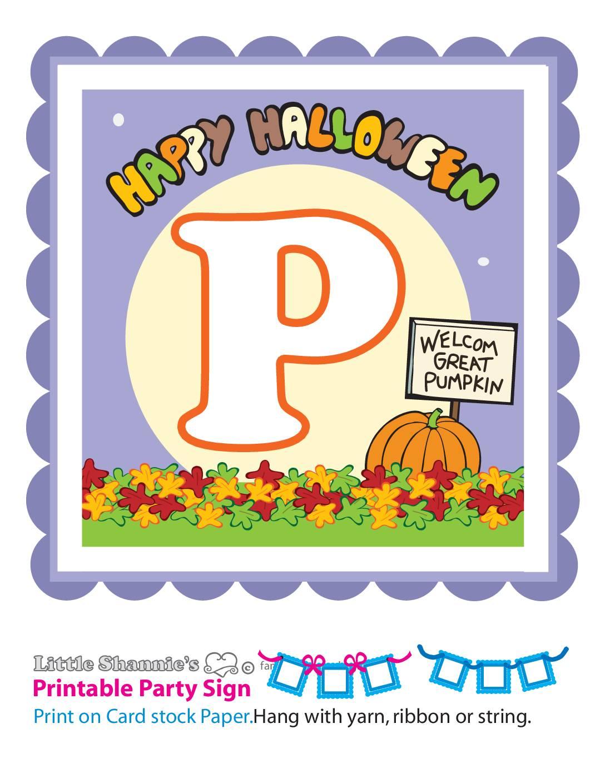 Banner P Peanuts Halloween