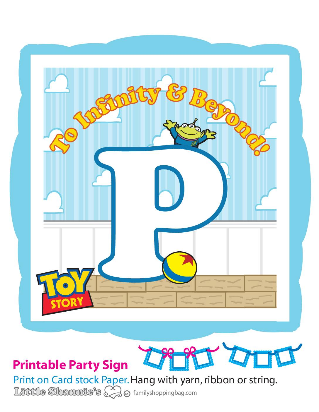 Banner P Toy Story