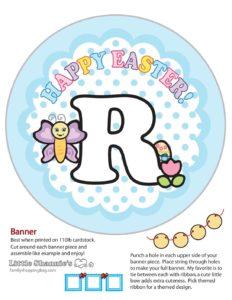 Banner R Easter
