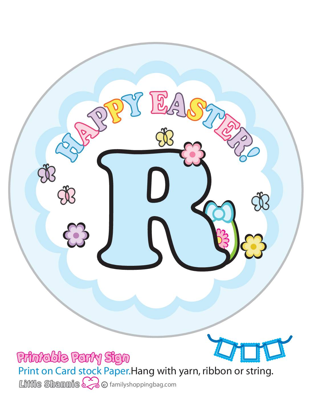 Banner R Mouse Easter