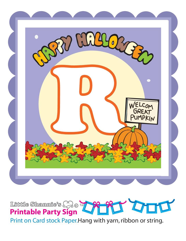 Banner R Peanuts Halloween