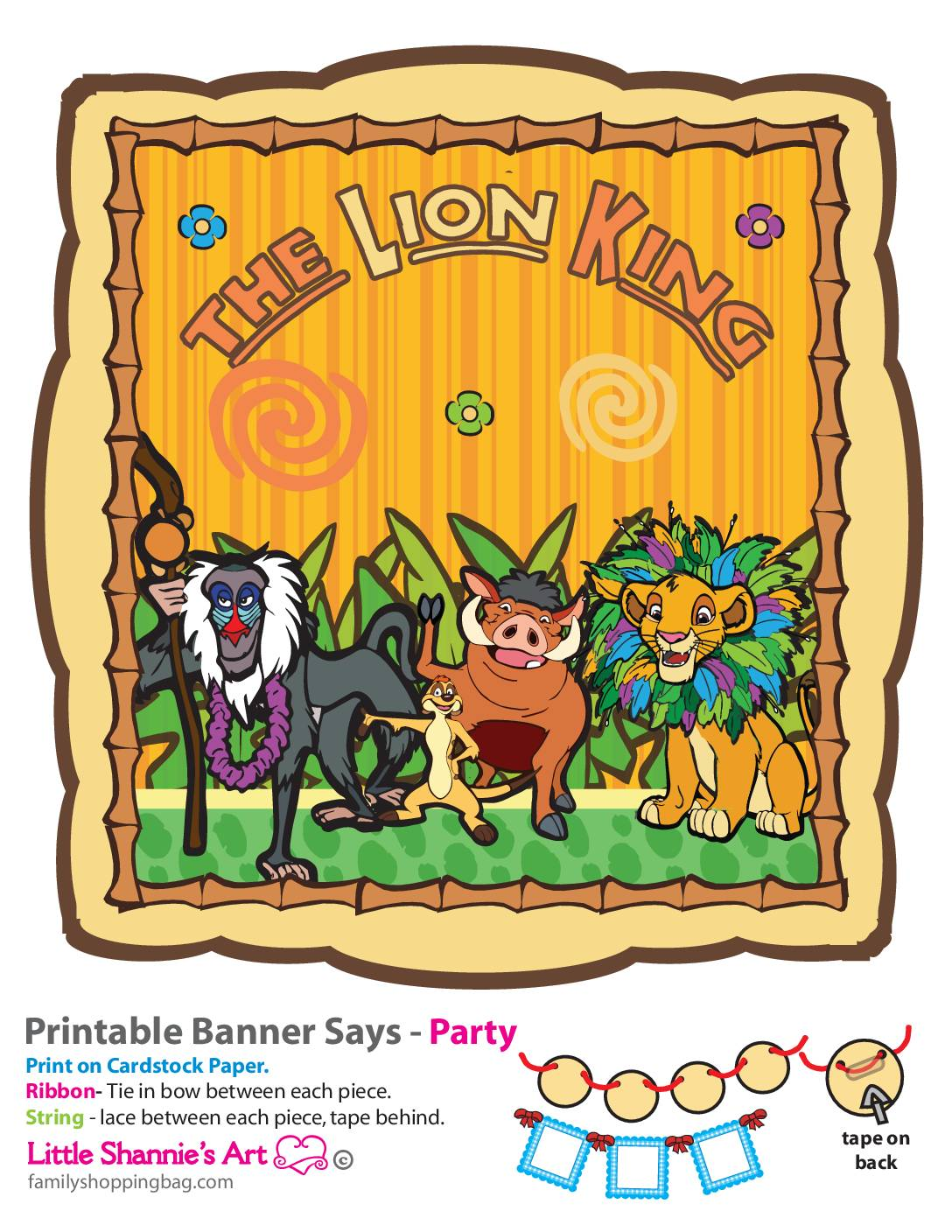 Banner Right Lion King