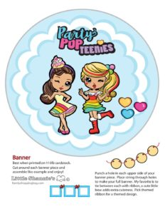Banner Right Party Pop Teenies