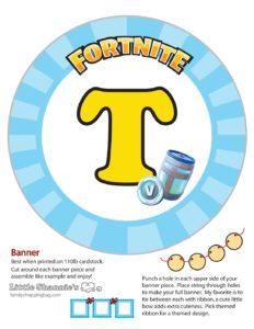 Banner T Fortnite