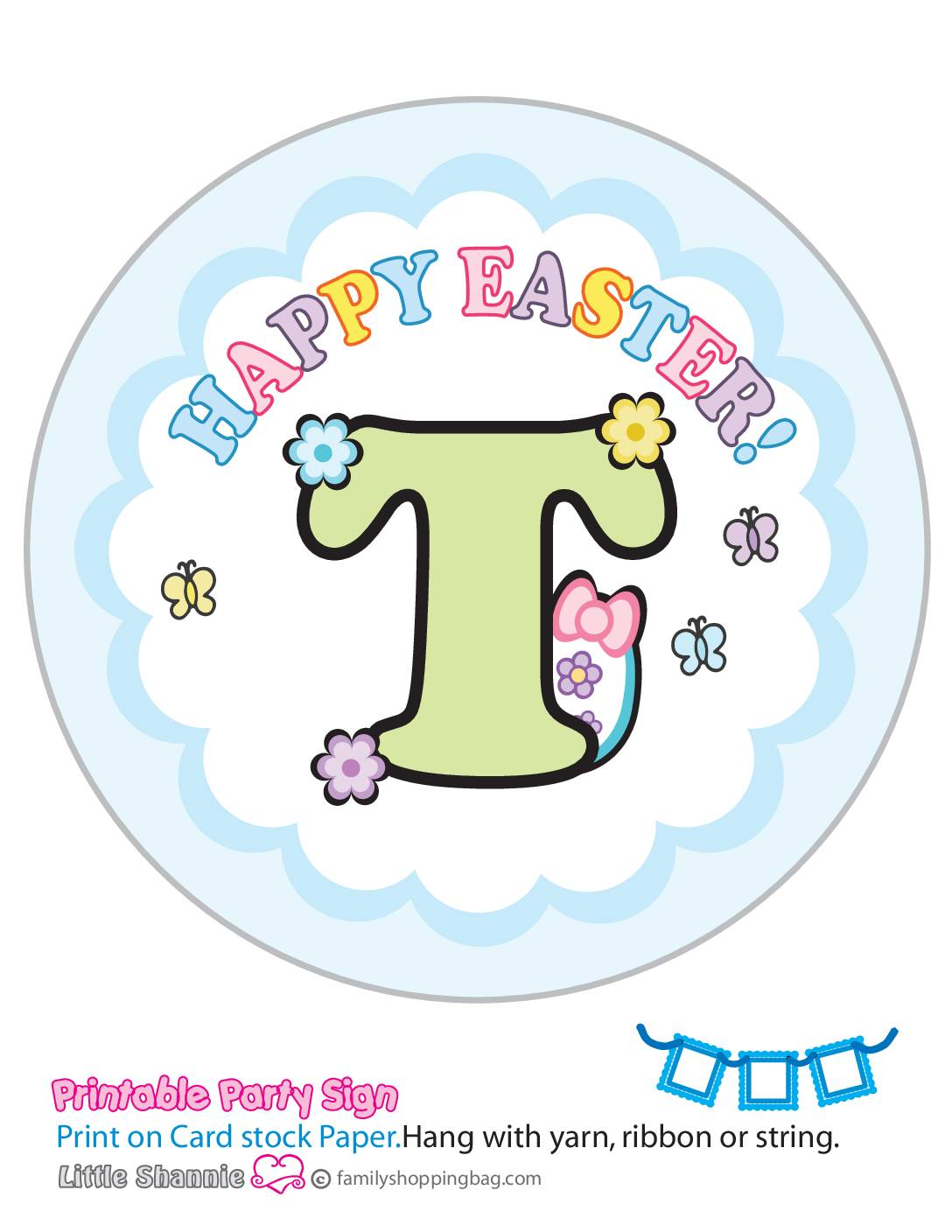 Banner T Mouse Easter