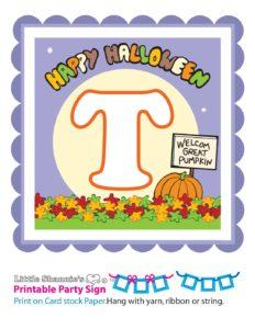 Banner T Peanuts Halloween