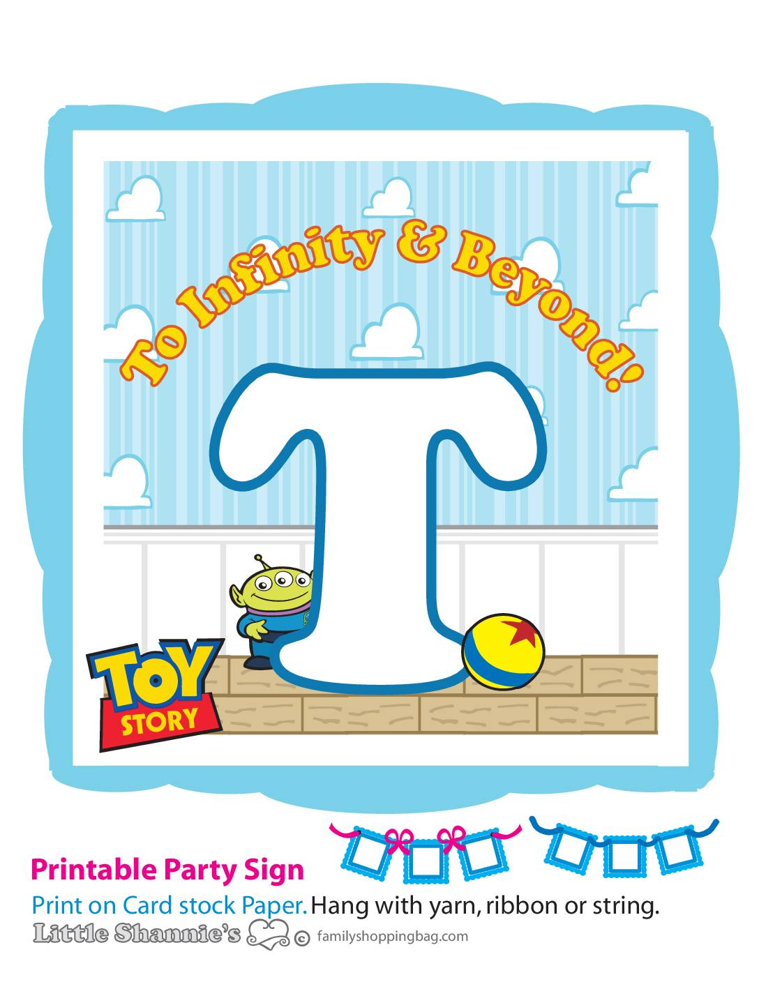 Banner T Toy Story