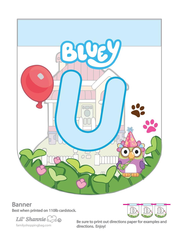 Banner U Bluey