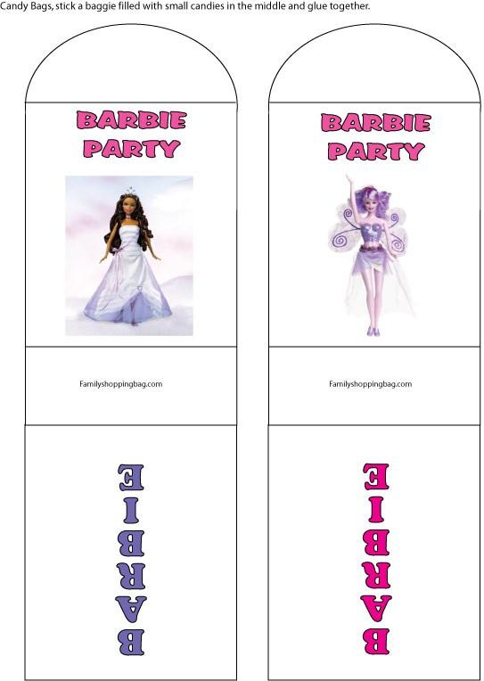 Barbie Candy Wrap