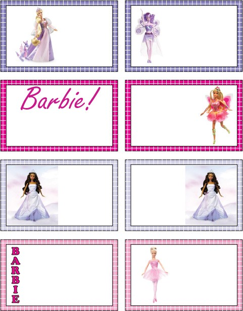 Barbie Gift Tags