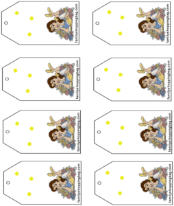 Beauty & the Beast Gift Tag