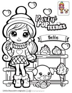 Bella Coloring Page Party Pop Teenies