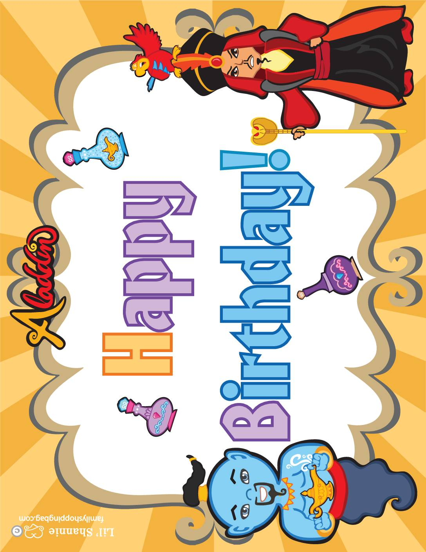 Birthday Sign 2 Aladdin
