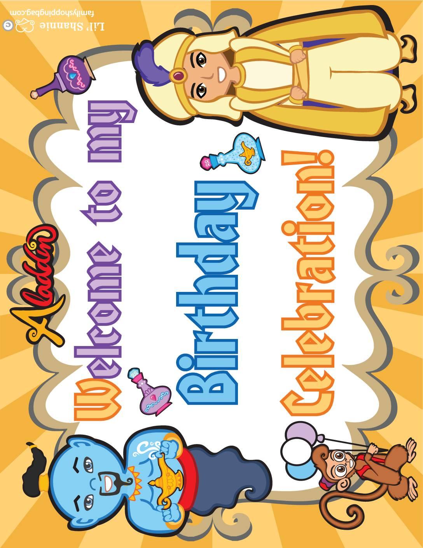 Birthday Sign Aladdin