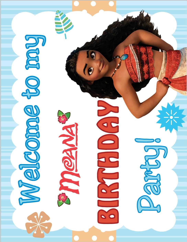 Birthday Sign Moana