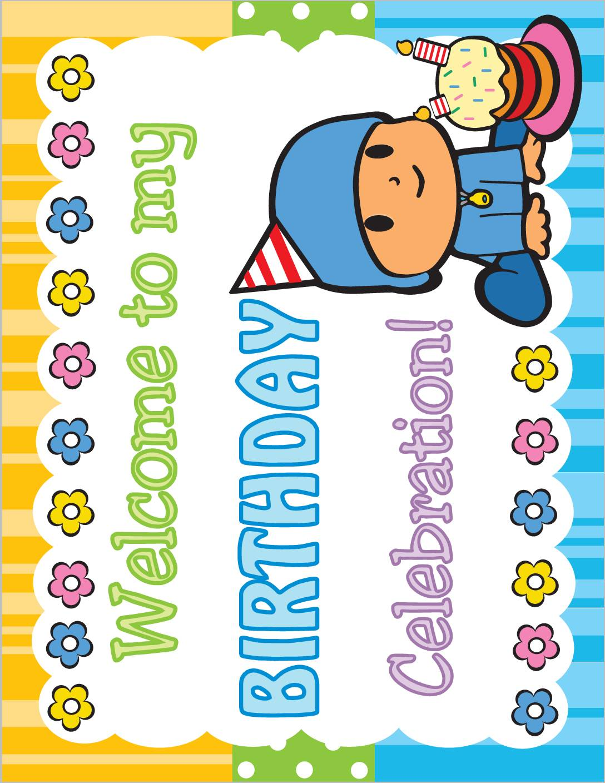 Birthday Sign Pocoyo