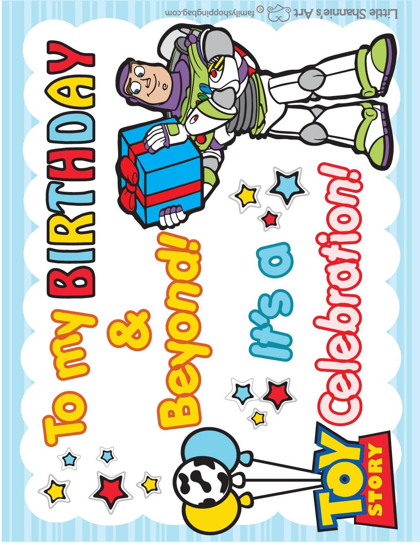 Birthday Sign Toy Story