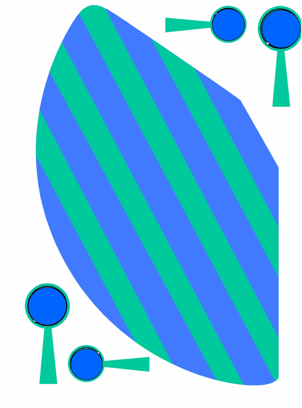Blue & Green Party Hat