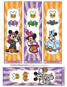 Book Marks Mickey Halloween