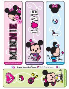 Printable Minnie Bookmarks