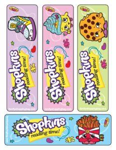 Shopkins Bookmarks
