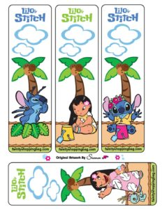 Bookmarks Lilo and Stitch