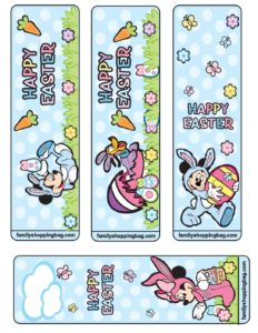 Bookmarks Mickey Mouse Easter