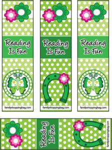 Bookmarks St. Patricks Day printable