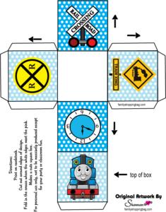Thomas Tank Favor Box