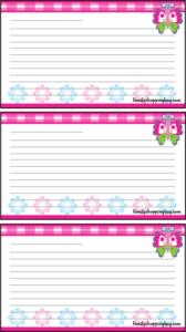 Butterfly Recipe Cards
