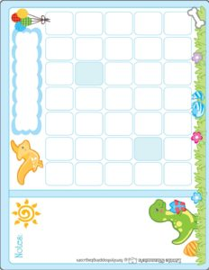 Calendar Dinosaur