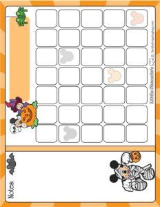 Calendar Halloween Mickey