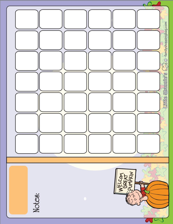 Calendar Peanuts Halloween