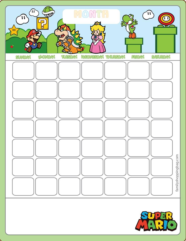 Calendar Super Mario